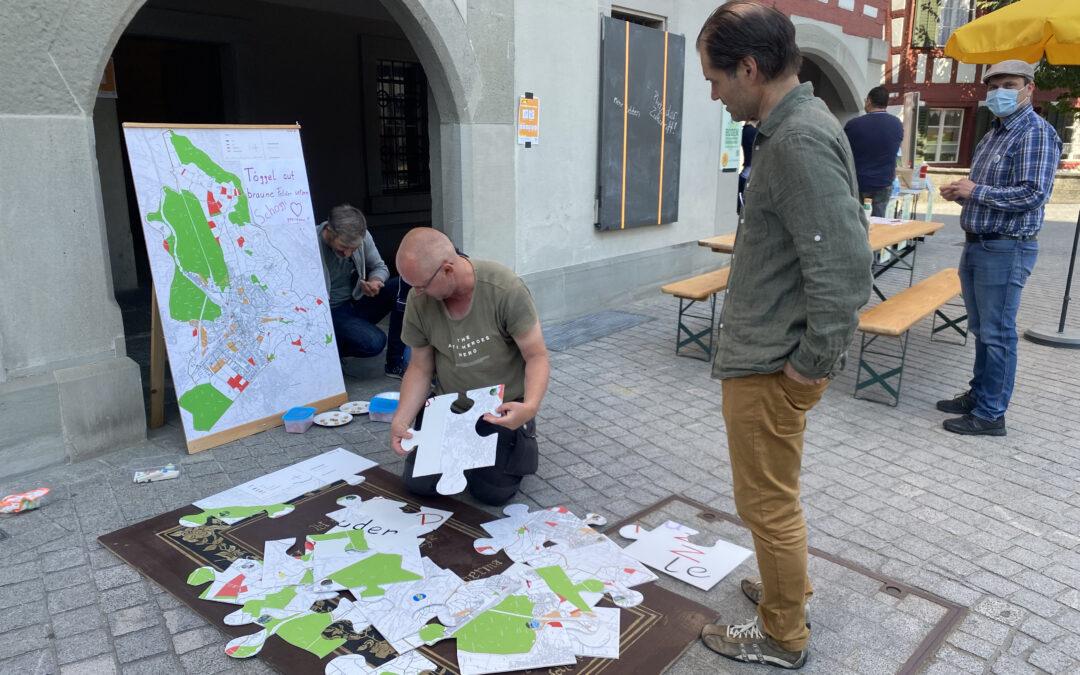 Stadtgespräch Boden: viele Interessierte informieren sich